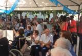 Les Festes del barri de Sant Ferriol d'Olot visiten la Residència Santa Maria del Tura.