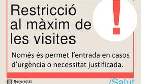 Restricció al màxim de les visites a la Residència Santa Maria del Tura