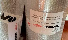 Tavil dona 50 viseres de protecció contra la COVID-19