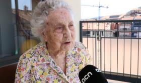 Entrevista a la Maria Branyas, en la Residència del Tura, donde vive desde hace unos años.